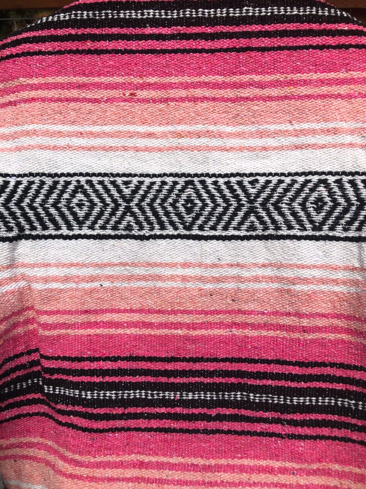 Image of Pink/Light Pink/White Baja Blanket