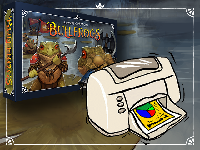 Image of Bullfrogs Deluxe Print and Play Version