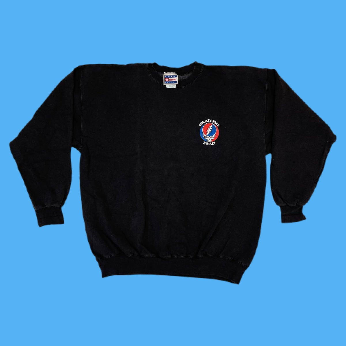 Original Vintage Grateful Dead Road Crew 1990's Long Sleeve Crewneck Sweatshirt! X-LARGE!