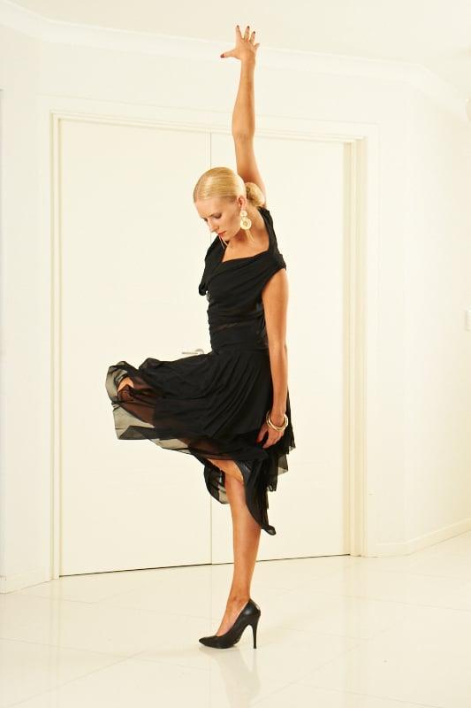 Image of Social Tissue Skirt - Black (J6056) Dancewear latin ballroom