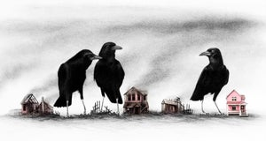 Crows Know (you can never go home), Framed Print