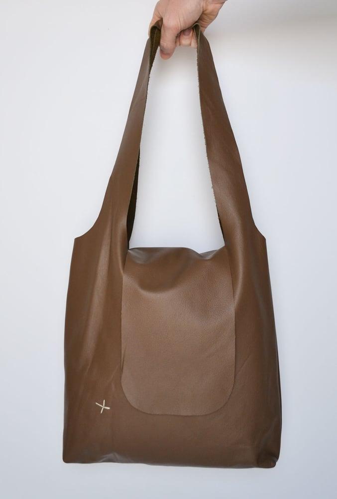 Image of - SALE - Cross Bag Chocolate Brown LAST ONE