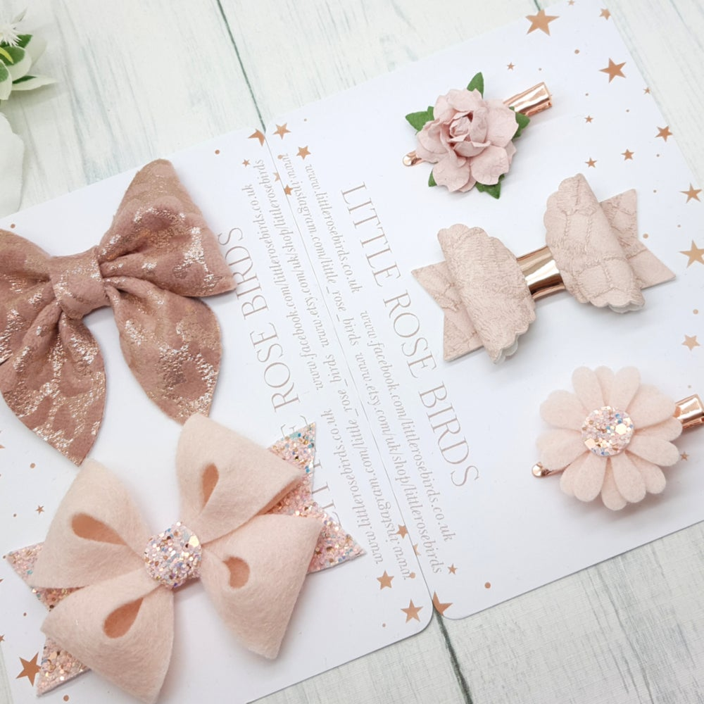 Image of March's Bow Box -Rose Gold and Blush