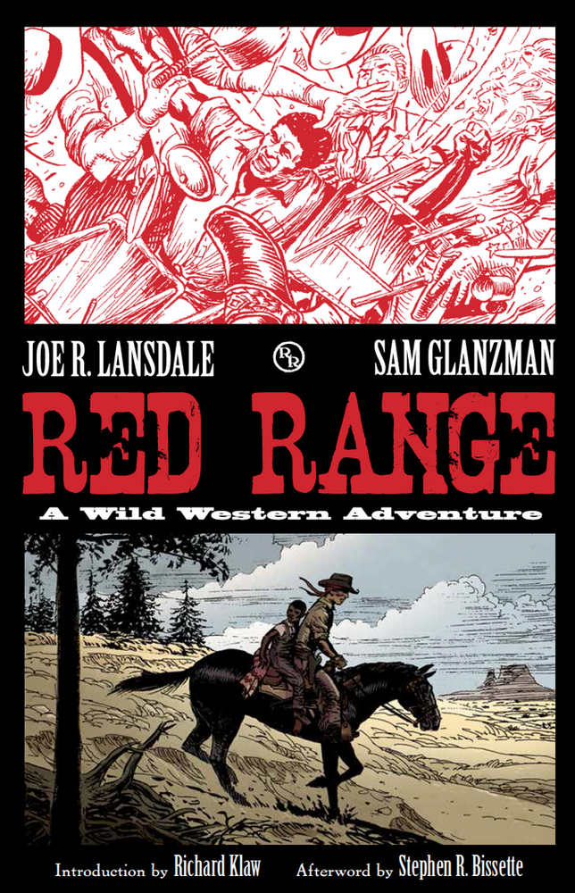 Image of RED RANGE signed by Joe R. Lansdale, Sam Glanzman, and Stephen R. Bissette