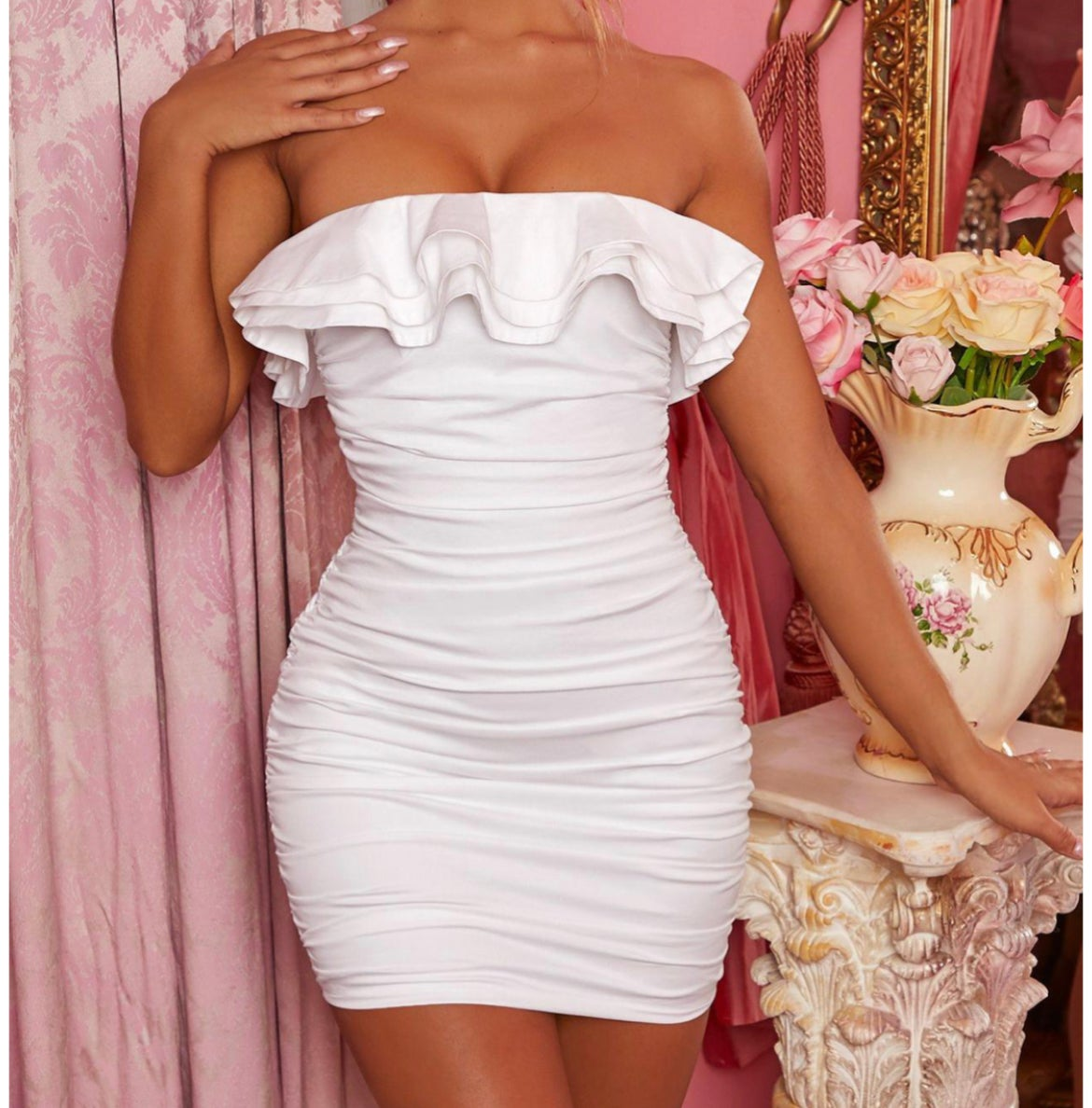 "Image of ""Snow White"" Top Ruffle Mini"