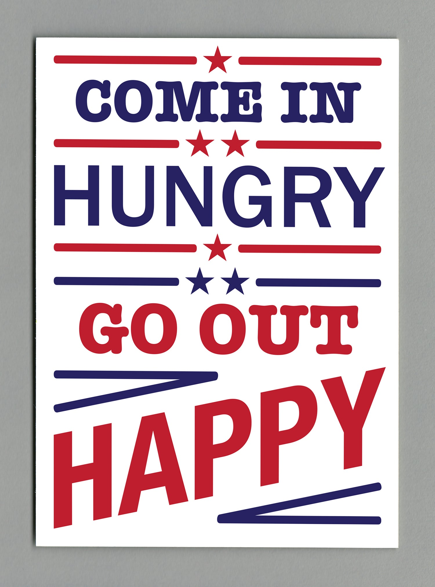 Hungry / Happy A4 print