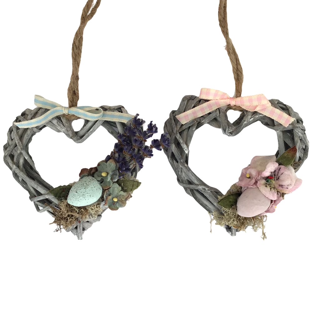 Image of Mini Wicker Easter / Spring  Heart