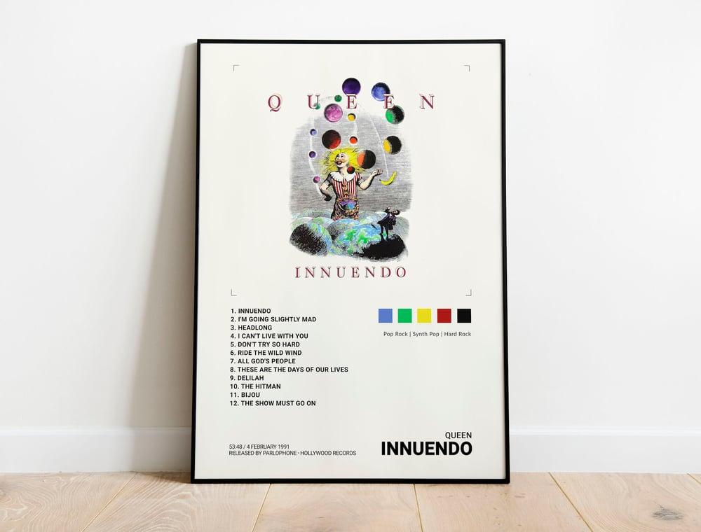 Queen - Innuendo, Freddie Mercury Album Cover Poster