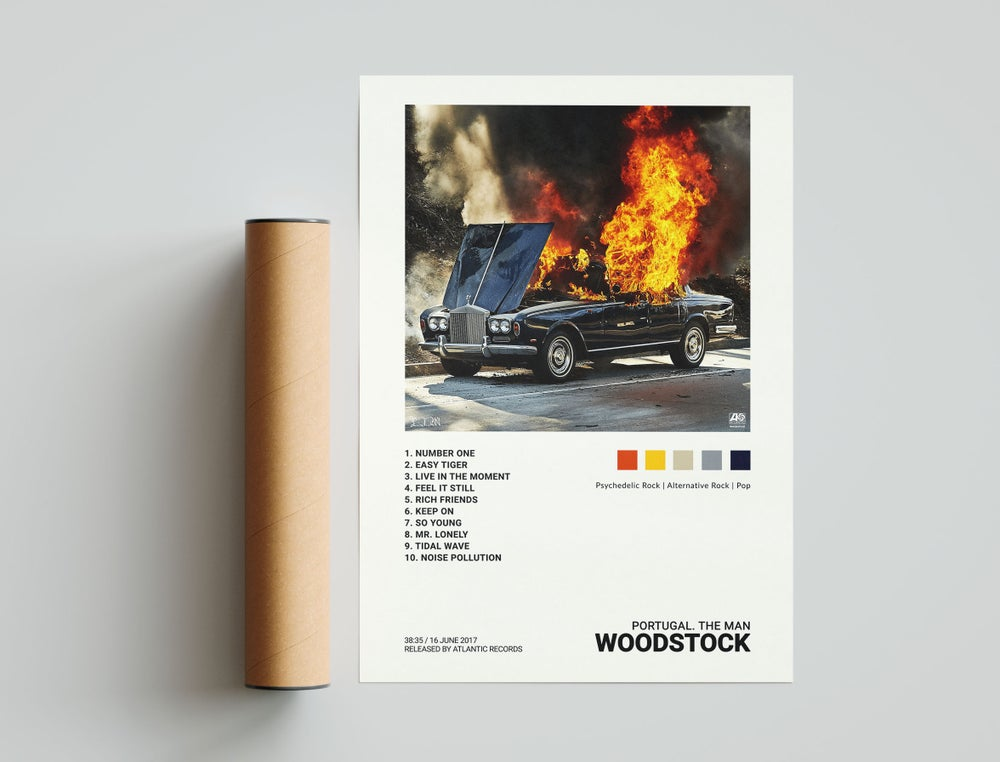 Portugal. The Man - Woodstock, Album Cover Poster