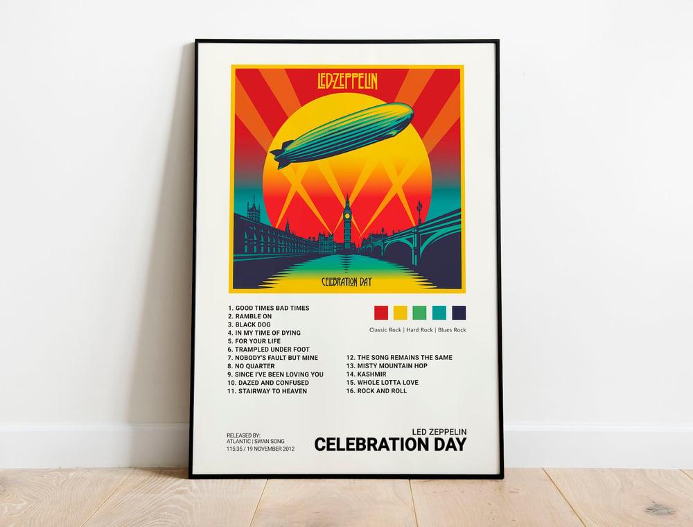 Led Zeppelin - Celebration Day, Album Cover Poster Print