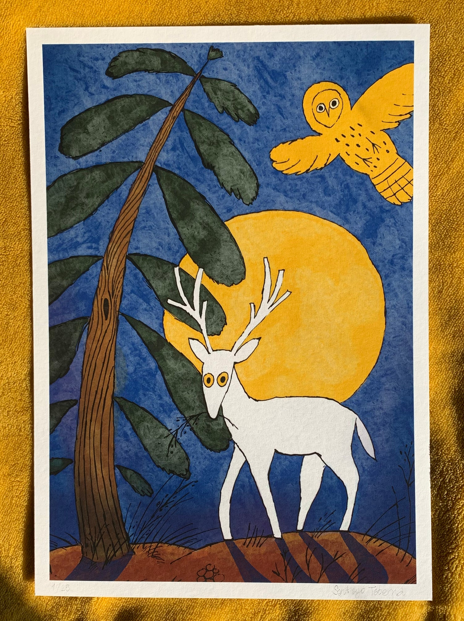 ´The Moon and The Deer´ giclée print