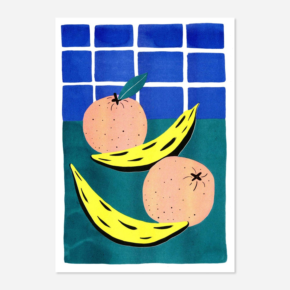 Image of Oranges & Bananas Risoprint