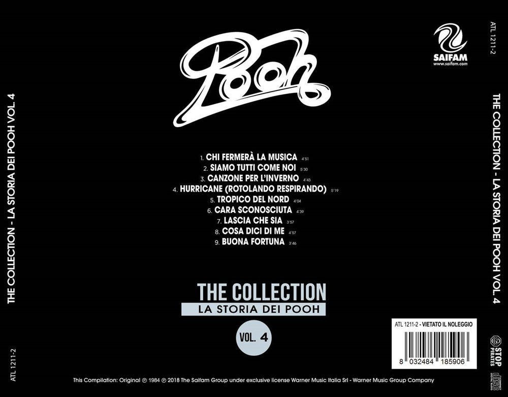 ATL1211-2 // POOH - THE COLLECTION : LA STORIA DEI POOH VOL.4 (CD COMPILATION)