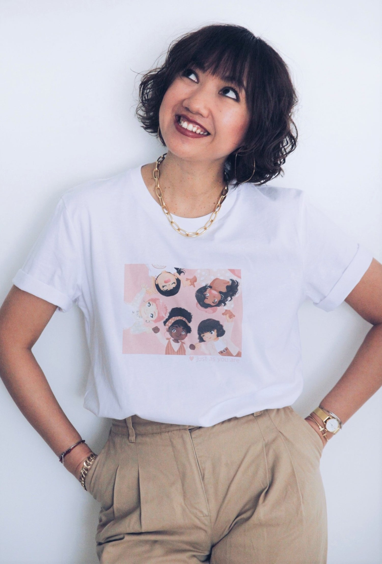 Image of T-SHIRT THE SIMONES X TOKYOBANHBAO  - JUST AS YOU ARE