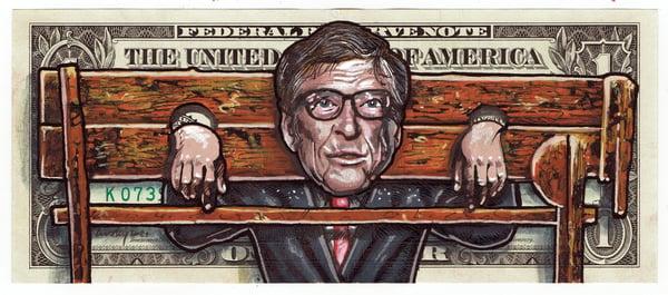 Image of Real Dollar Original. Pillory Bill.