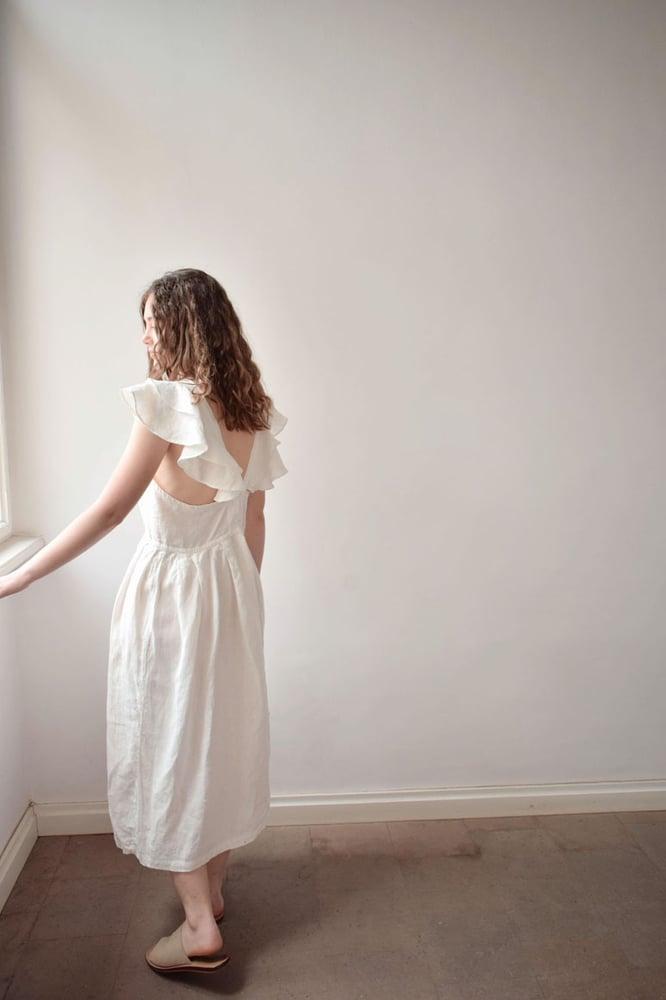 Image of LALU Linen Frilly Dress