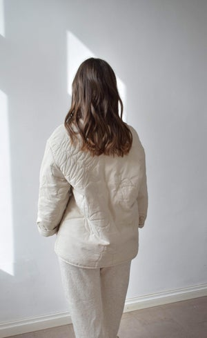 Image of Quilted botanical jacket