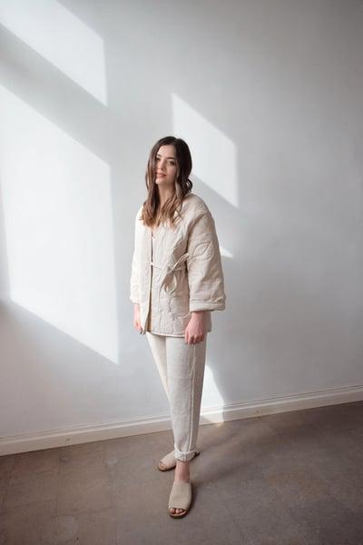 Image of Quilted botanical jacket