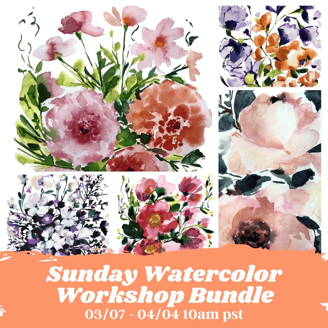 Image of LIMITED TIME OFFER - Spring Watercolor Workshop Bundle $79 (Originally $175)