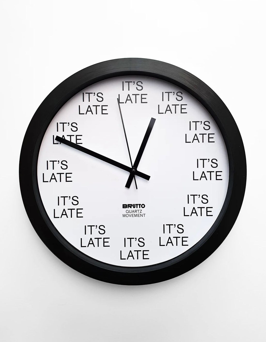 Image of IT'S LATE wall clock