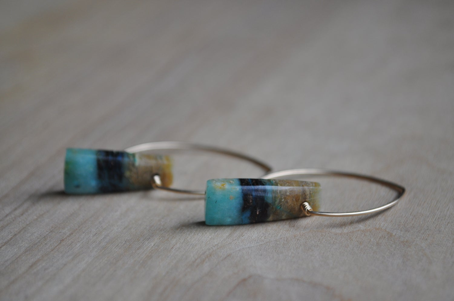 Image of One of a Kind Blue Opal Dangles
