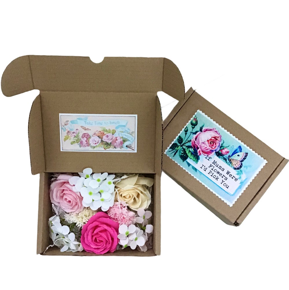 Image of Mother's Day Country Garden Soap Flowers