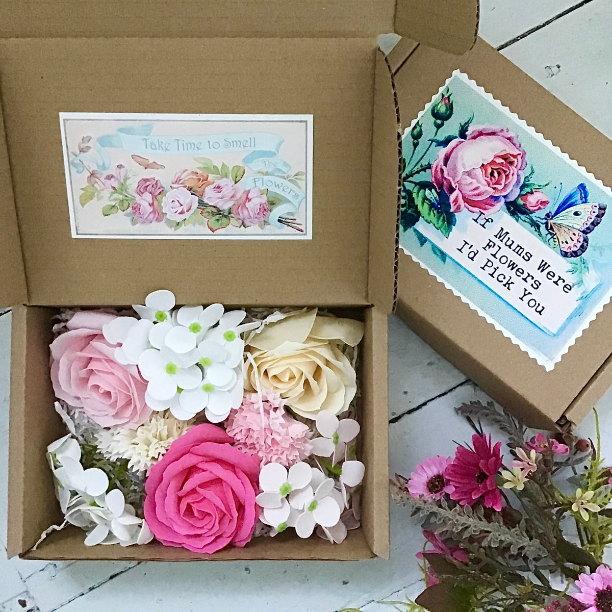 Image of If Mums Were Flowers -  Country Garden Soap Flowers
