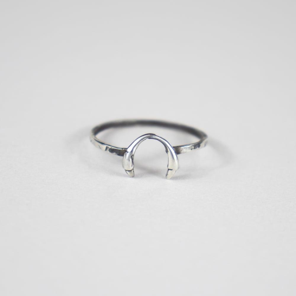 Image of Silver Horseshoe Ring