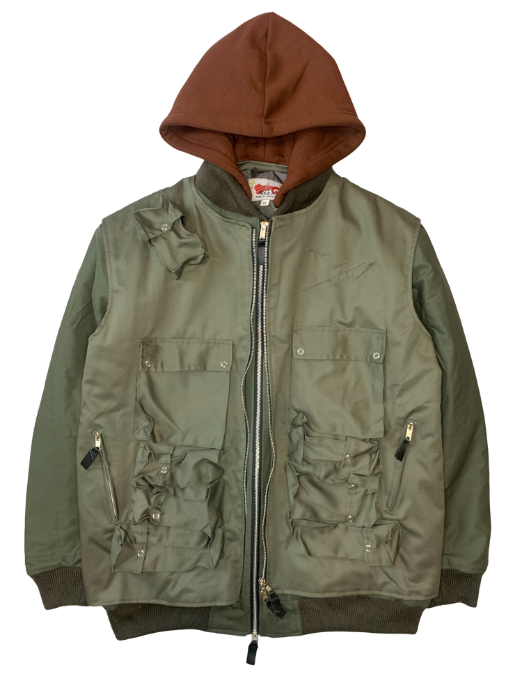 Image of OLIVE GREEN HUNTERS JACKET