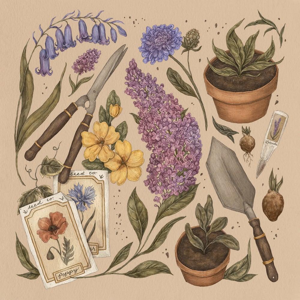 Image of Spring Gardening Print