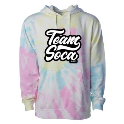 Image of Team Soca Varsity Hoodie - Tie Dye