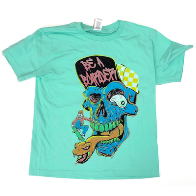 Image of Be A Boarder Skull Tee - MINT