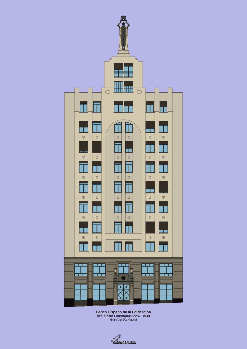 Banco Español de Edificación (fondo color)