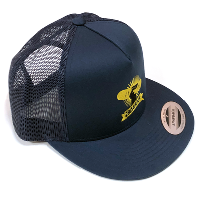 Image of BAB Logo Navy/Yellow Mesh Snapback