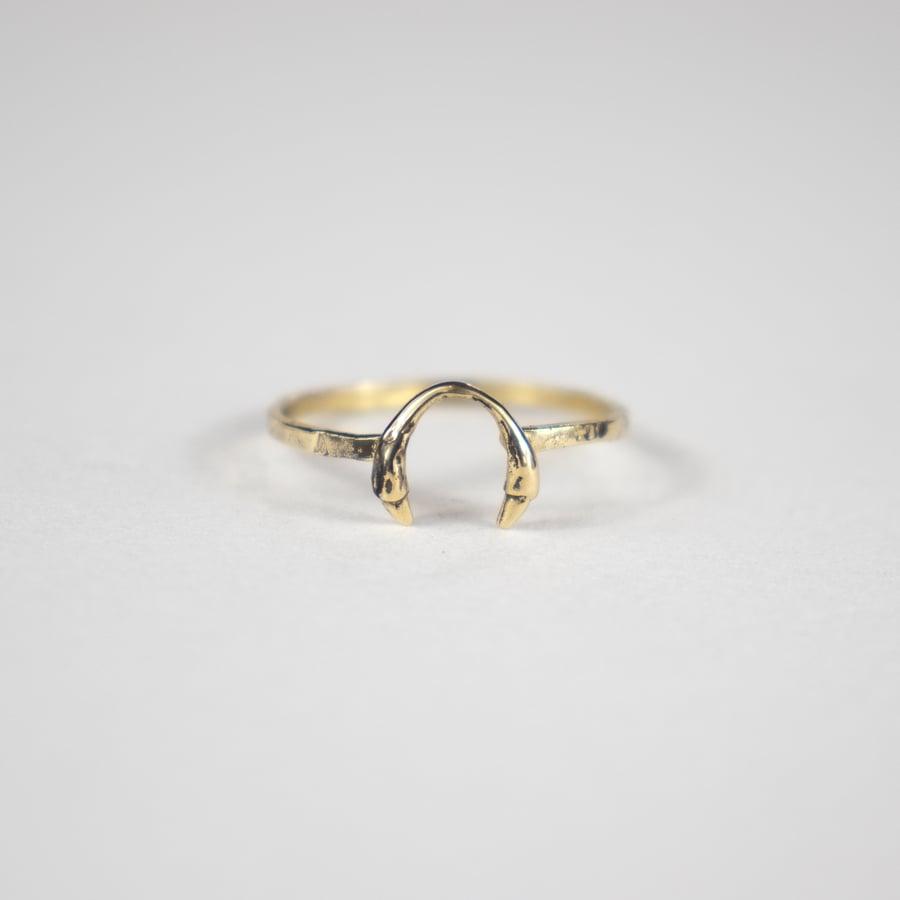 Image of Gold Horseshoe Ring