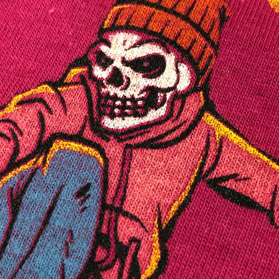 Image of Be A Boarder Skull Tee - BURGUNDY
