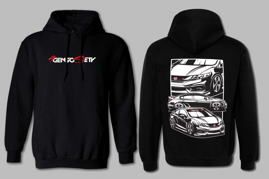 Image of NEW- Revised Front Logo 9gen 2 & 4dr Hoodie