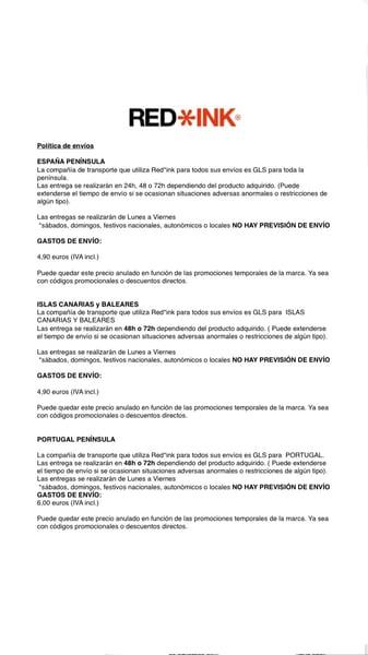 Image of POLITICA DE ENVÍOS Y DEVOLUCIONES