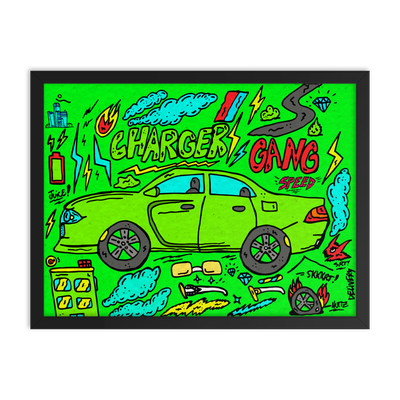 Image of Charger Gang Framed Poster Print