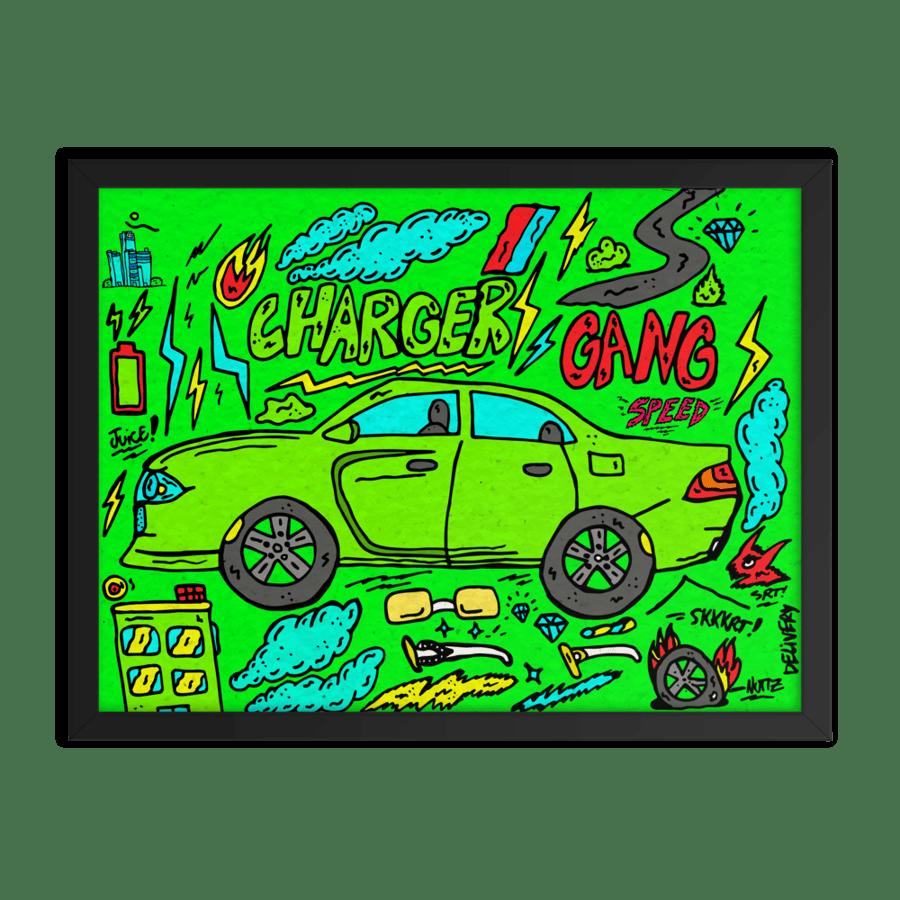 Image of Charger Gang Framed Poster Print