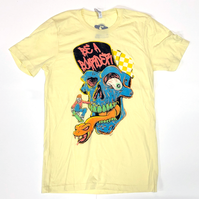 Image of Be A Boarder Skull Tee - YELLOW