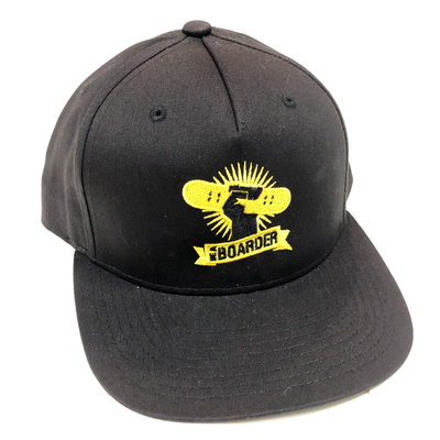 Image of BAB Logo Black/Yellow Snapback Cap