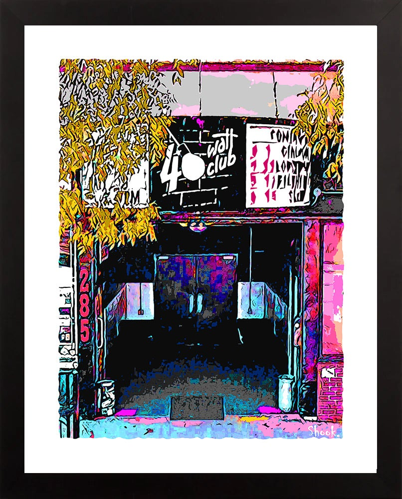 "40 Watt Club Athens GA Jewel Tone Giclée Art Print - 11"" x 14"""