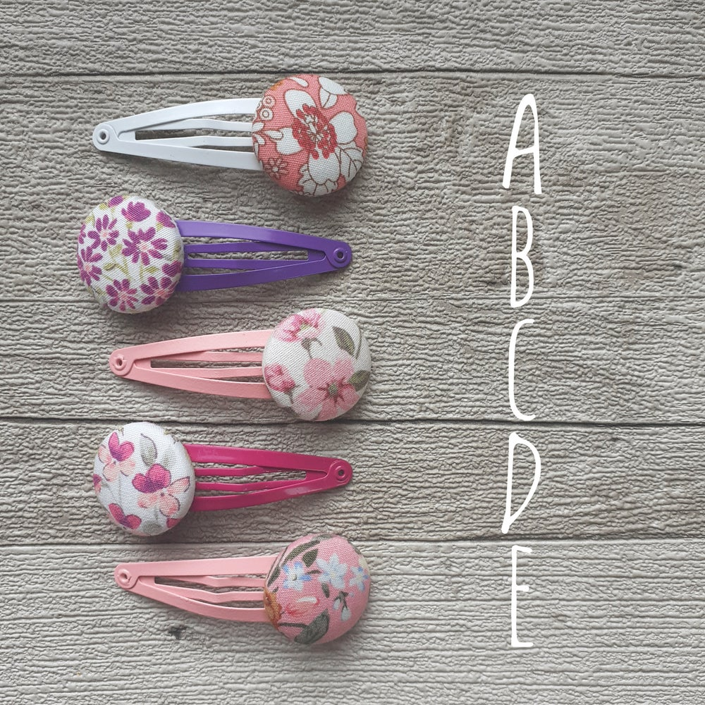Image of Button Hair Clips & Ties - Ready Made