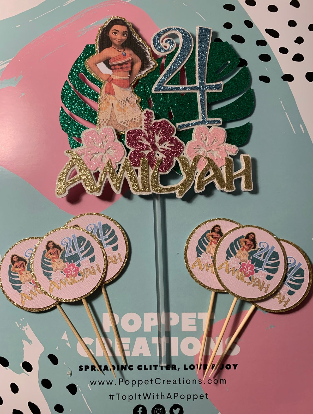 Image of Moana themed topper
