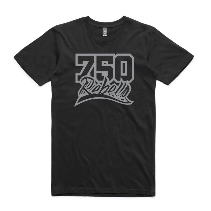 Image of 750 Rebels Grey Logo T-Shirt