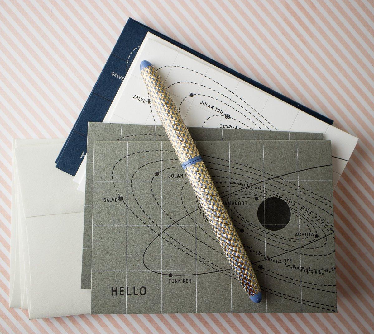 """Hello"" Star Chart Notecard Sets (Set of 6)"