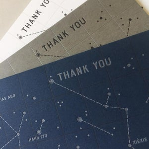 """Thank You"" Star Chart Notecard Sets (Set of 6)"