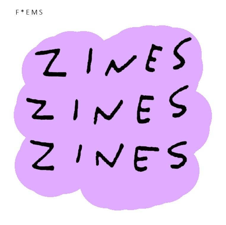 Image of F*EMS zine sticker