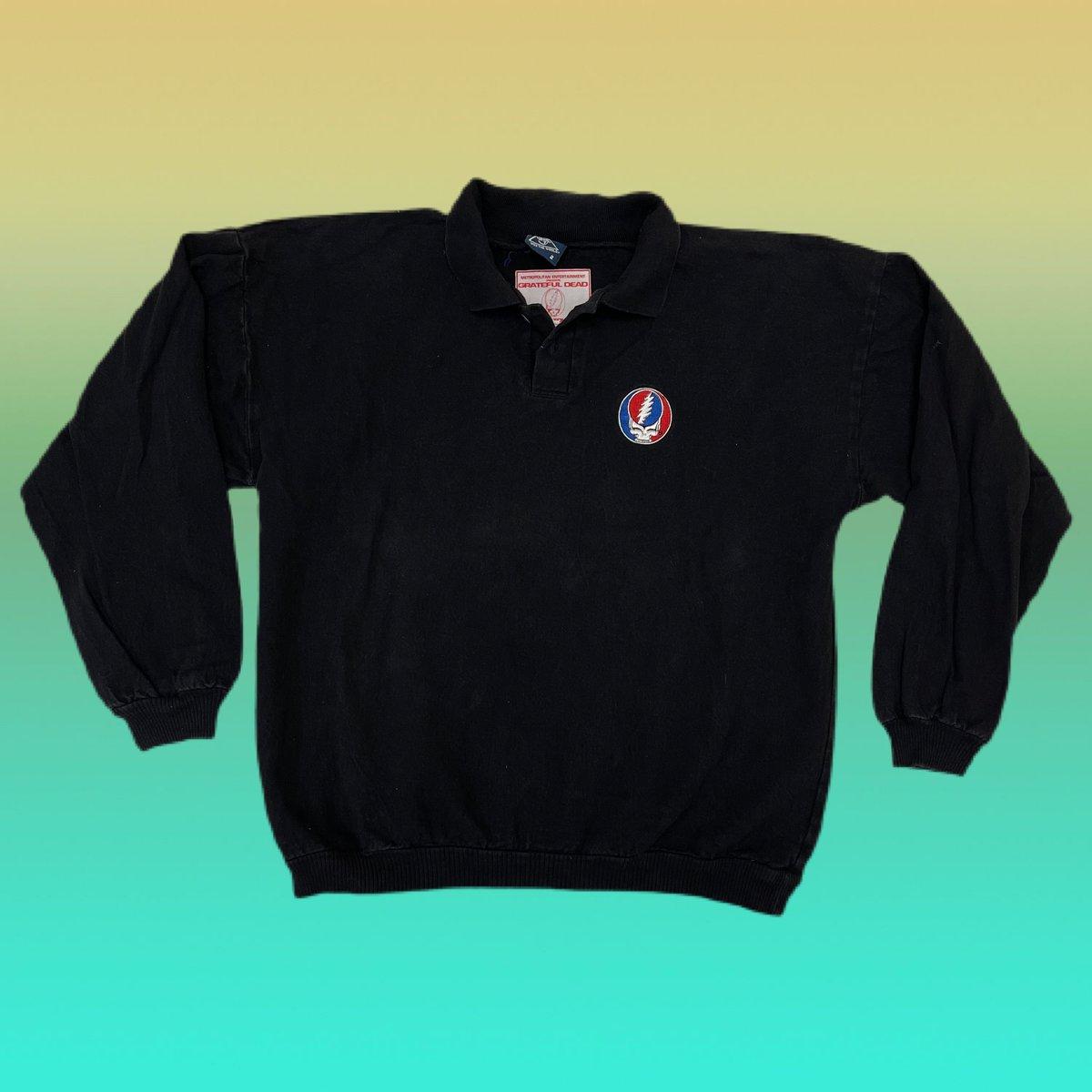 Original Vintage Grateful Dead Road Crew 1993 Long Sleeve Polo Shirt! X-LARGE!